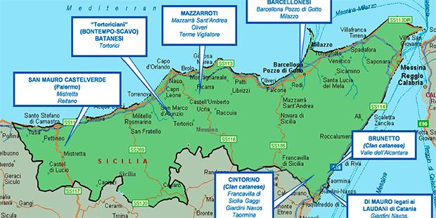Mafia la mappa dei clan a messina e for Volantino despar messina e provincia
